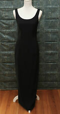 Vintage 1990's Syndicate long Black formal Sheath / Pencil Dress Size 10 NWT