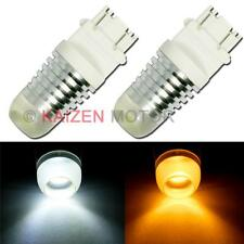 2x 3157 Dual Color W/A Switchback Projector LED Signal Light Bulbs 3457 3757 #69