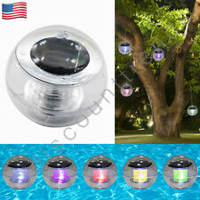 Outdoor Solar Color Changing LED Floating Lights Ball Pond Pool Path Landscape