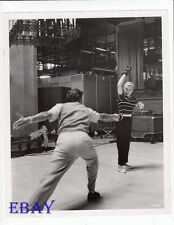 Lana Turner sword fights Roger Moore VINTAGE Photo Diane candid on set