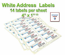 "3500 1-1/3 x 4"" labels -14 labels per sheet - same size as 5162 template"