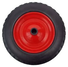 "PU 16"" METAL Puncture Proof Wheel Barrow Tyre 4.80 - 8 Light foam WITH 1"" BORE"