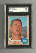 1968 BILL KELSO - SGC 98 GEM MINT 10 TOPPS #511 - CINCINNATI REDS