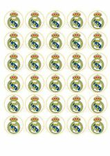30 Real Madrid FC Football Edible Paper Cupcake Cup Cake Decoration Topper Image