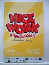 NICE WORK IF YOU CAN GET IT Playbill SALLY STRUTHERS / VALERIE HARPER ME 2015