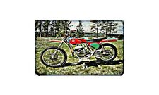 Bultaco Pursang Mk4 Motorbike Sign Metal Retro Aged Aluminium Bike