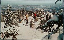 Killington VT, Skiers On the Catwalk Trail, Killington Peak, Vintage 1960's Ski