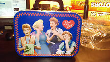 """I Love Lucy Metal Tin Tote w/ handle  """"What's Lucy Cooking Up?"""" #14570 MINT"""