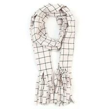 New  Fairy Tail Natsu Dragneel Scarf White Black Plaid Cosplay  Scarf