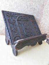 "Vintage CARVED OAK Wood BIBLE Book STAND,European,C.1800,Monarch Design,15""x12"""