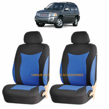 BLUE SPEED AIRBAG COMPATIBLE FRONT LOWBACK SEAT COVERS SET for GMC ACADIA SIERRA