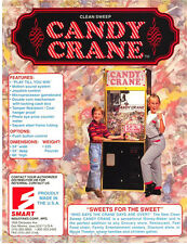 CLEAN SWEEP CANDY CRANE By SMART NOS REDEMPTION ARCADE GAME MACHINE SALES FLYER