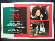FOTOBUSTA CINEMA - CORRUZIONE AL PALAZZO DI GIUSTIZIA - FRANCO NERO - 1975 - 07