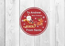 12 X LARGE Precut Personalised Personalised Christmas Stickers From Santa
