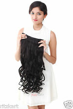 Women Half  hi quality Synthetic hair extension curly black HT3 sale