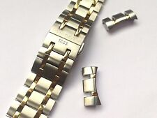 21MM TISSOT 2-TONE STAINLESS STEEL / GOLD PLATED GENTS WATCH STRAP T099407A