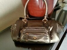 Tod's Pashmy Satchel Bag Taupey Military Green Nylon & Brown Leather GORGEOUS!