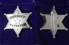 NEW Series Nickel Plating Andy Griffith Show SHERIFF Mayberry Badge prop type