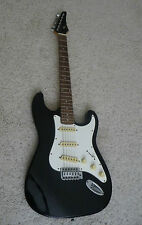 Rare Vintage Genuine Black Samick Strat Style Electric Guitar