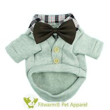 """Fitwarm 14""""Chest Winter Dog Coat for Small Pet Clothes Boy Apparel Party Bow Tie"""