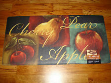 Memory Foam Anti Fatigue  Kitchen Floor Mat Rug 20x39  FRUIT Apples Pear Cherry