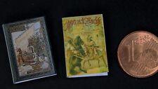 2 Abenteuer Kinderbücher Buch 1:12  Miniatur Puppenstube Puppenhaus Setzkasten
