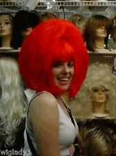 **WIG WIGS DRAG QUEEN FUN BANGS STRAIGHT CLOWN RED PAGE