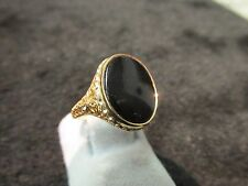 Filigree Onyx Ring Church And Co Brand New Never Worn14k Gold