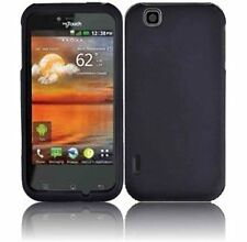 Hard Rubberized Case for LG Maxx Touch E739 - Black