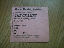 THE CRAMPS  TICKET STUB ODEON BIRMINGHAM 30th MARCH 1986