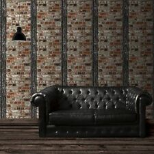 New Muriva - Loft Brick With Beam - Multi - Stone Wall Luxury Wallpaper 102540