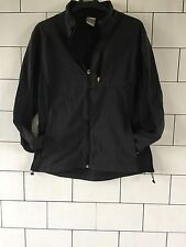 WOMENS VINTAGE RETRO 90'S OLD SCHOOL BLACK NIKE FIT STORM JACKET COAT UK 12-14