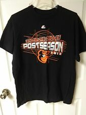Vintage Majestic MLB 2012 Baltimore Orioles Post Season Baseball T-Shirt Men L