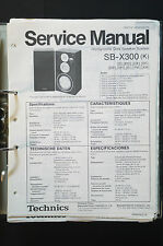 TECHNICS sb-x300 ORIGINALE SPEAKER Service-Manual/Service-manuale/Schema Elettrico!