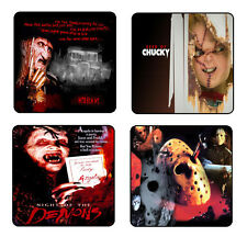 HORROR COLLECTIONS #2 COASTER & HOLDER SET OF 4 - Gloss Hardboard FREE Stand