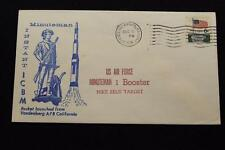 SPACE COVER 1969 MACHINE CANCEL USAF MINUTEMAN 1 BOOSTER LAUNCH (2676)