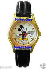 BRAND NEW LADIES DISNEY MICKEY MOUSE LUMIBRITE DATE SEIKO WATCH
