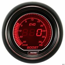 PROSPORT 52mm EVO Series Digital Red / Blue Led Boost Gauge PSI