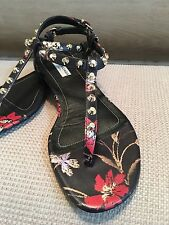Balenciaga Studded Leather Thong Sandals Size 38/8 $535