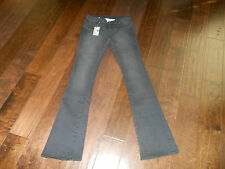 NWT CONVERSE CROCKING Boot Cut Stretch Jeans 01863C Size 26 x 34 Black $98!