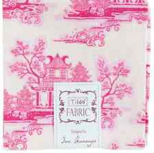 Tilda Country Escape - China Pink - cotton fabric Fat Quarter