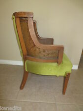 Wingback Chair Hollywood French Country Victorian Regency Parlor Fauteuil Cane