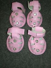 New Pink Sandals Medium Dog Shoes Smoochie Pooch, 2 in paw size, Beagle,terrior