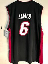 Adidas NBA Jersey MIAMI Heat Lebron James Black sz L