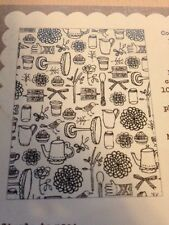 Basic Grey Hero Arts Paper Cottage Garden Background Cling Stamps
