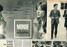 PUBLICITE ADVERTISING 084  1965  FRANCOISE HARDY & SAMI FREY  ( 2 pages)