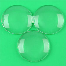 """2 Pack - 2.5"""" Round Glass Cabochons - Clear Magnifying Glass Dome Cabs - 2 1/2"""""""
