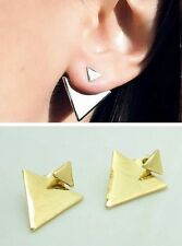 Hot Trend Jewelry Spike Ear Jacket Arrow Punk Claw Triangle Double Sided Earring
