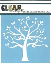 """Clear Scraps 12"""" Family Tree stencil ideal for airbrushing, tole painting"""