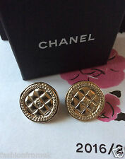 CHANEL 15C GOLD COIN CC CLIP-ON EARRINGS